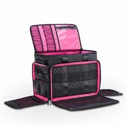 DeNOA Rolling Arts & Crafts Tote Bag w/ Sewing Machine Black
