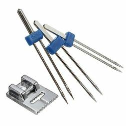 DIAOSnx 3 Pcs Sewing Machine Double Needle Size 2.0/90 3.0/9