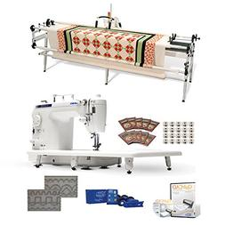 Juki DNJuki TL-2010Q 9 Long-arm Machine, GQ Quilting Table,