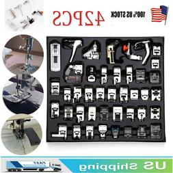 Domestic 42PCS Sewing Machine Presser Feet Foot Tool Kit Set