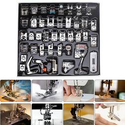Domestic Sewing Machine Presser Foot Feet Kit Set Crafts App
