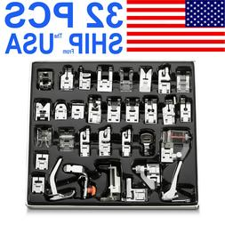 32pcs Domestic Sewing Machine Presser Foot Feet for Brother