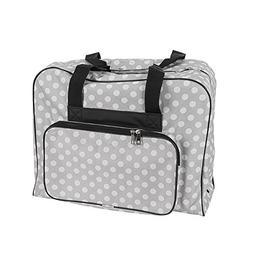 Hemline Dotty Sewing Machine Bag in Grey Polka Dot