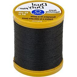 Coats Dual Duty Plus Jean & Topstitching Thread, Black