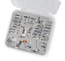 Embroidex 32 pcs Sewing Presser Foot Set for Low Shank Embro