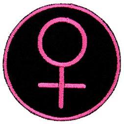 Female Woman Symbol Feminine Identity Patch Iron On Applique