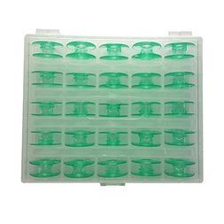 B-PRTT 25pcs/Box Green Plastic Bobbins for Viking Husqvarna