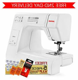 Janome HD3000 Heavy Duty Sewing Machine w/ 5-Piece Package +