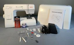 Janome HD3000 Heavy-Duty Sewing Machine with hard cover, acc