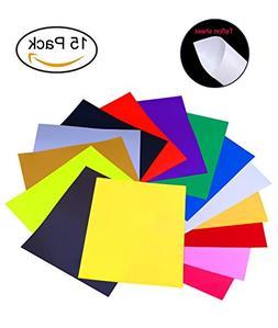 "Protocol Heat Transfer Vinyl Sheets 15 Color 12""x 10"" PU She"