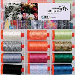 Hoffman Challenge 2017 Aurifil Thread Kit 12 Large Spools 50