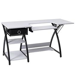 Costway Home Indoor Adjustable Sewing Craft Table Sewing Mac