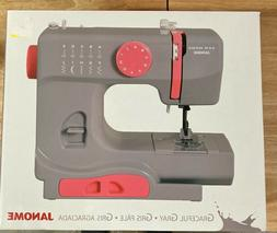 Janome New Home Portable Sewing Machine, Graceful Gray