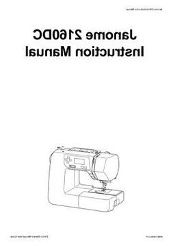 janome 2160dc sewing machine instruction