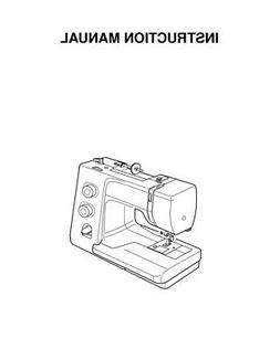 Janome Magnolia 7318 Sewing Machine Instruction Manual