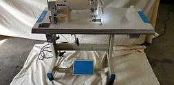 Juki DDL-8700 SEWING MACHINE WITH T-LEGS STAND ,CASTERS,SERV