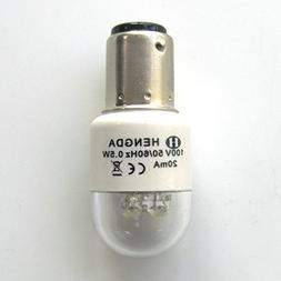 KUNPENG -BA15D 110V LED Light Bulb fit for Singer 15-9900 Ke