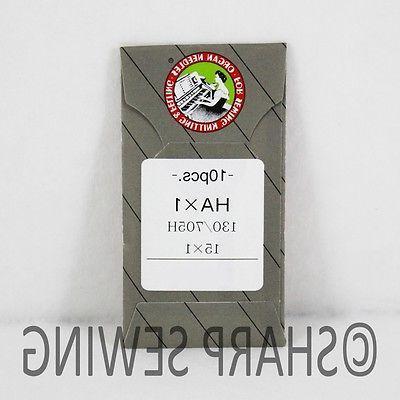 10 ORGAN FLAT SHANK 15X1 HAX1 130/705 HOME SEWING MACHINE NE