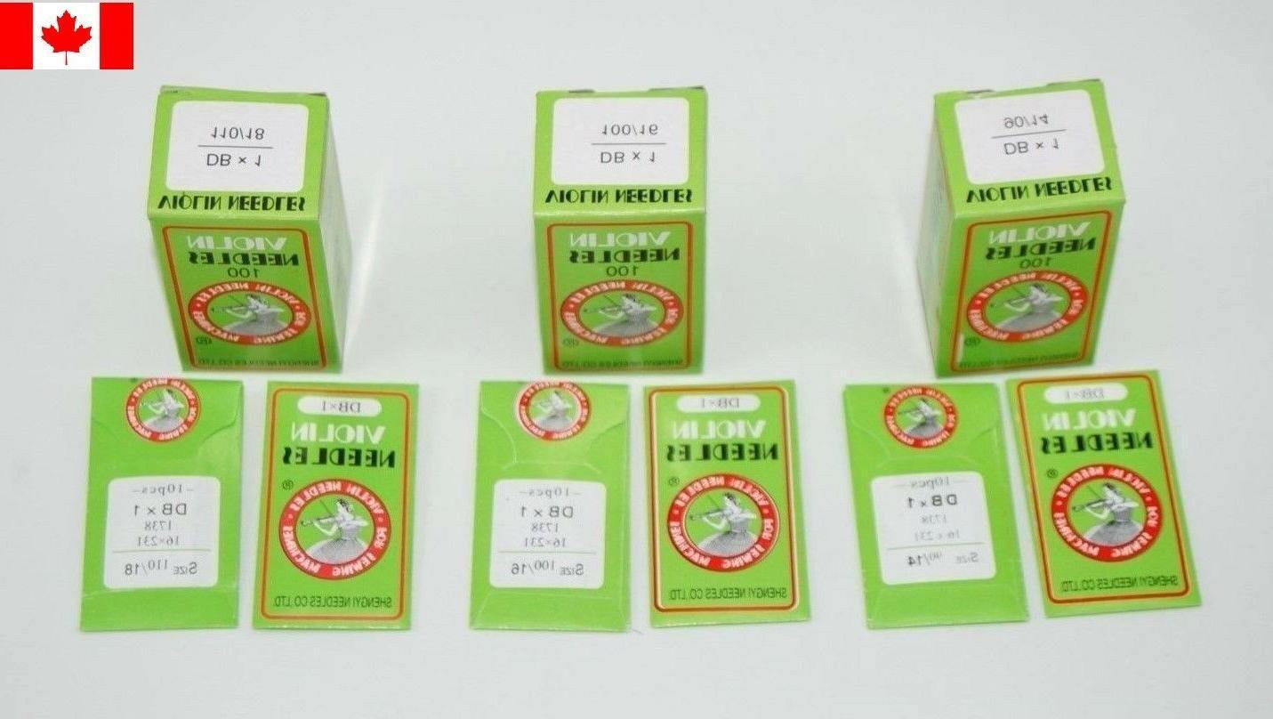 100 - VIOLIN INDUSTRIAL SEWING MACHINE NEEDLES DBX1-14/16/18