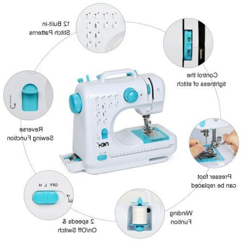 With Built-In Stitches Free-Arm Machine Blue NEX