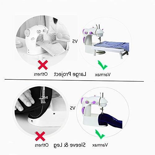 Varmax Mini Sewing Electrical with Foot Bobbins, Threader