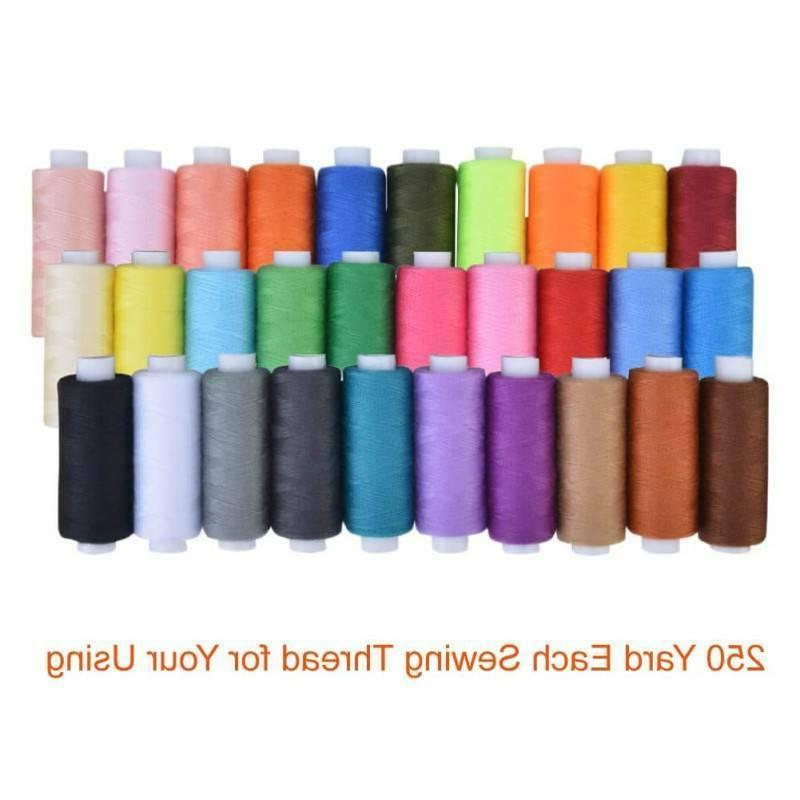 Sewing Machine Embroidery Thread 30 Spools Color Lots Durable DIY Mend