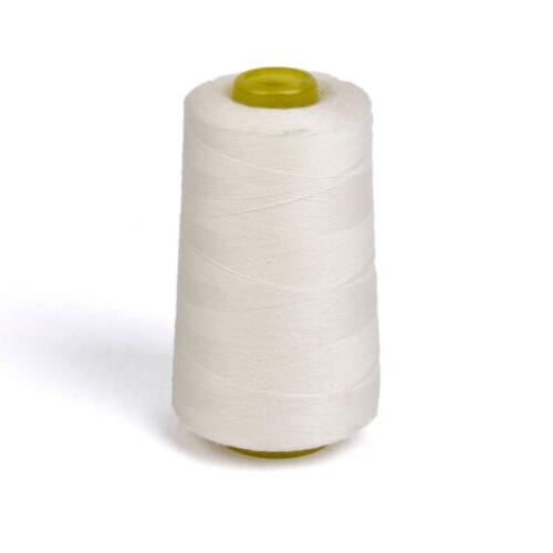 3000yds spool 100 percent cotton white sewing