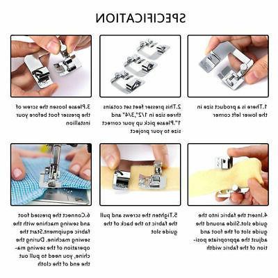 3Pcs/Set Domestic Machine Foot Presser Feet For Brother Singer