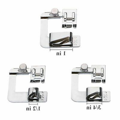 3Pcs/Set Domestic Sewing Foot Presser Rolled Feet For