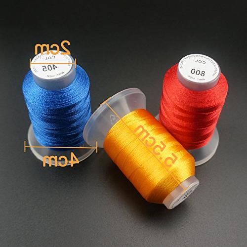 New brothread Value Pack Bundle Add-ons for Machine Embroidery Lovers Includes 63 Brother Colors Embroidery Thread Kit 2X60 Spools Wooden Thread Rack//Thread Holder
