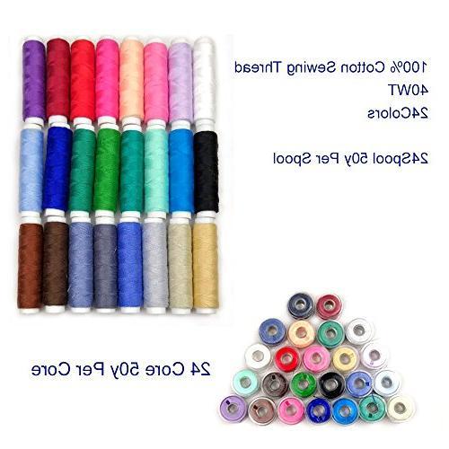 40WT100% 24 Thread Sewing Machine Bobbins, Babylock Kenmore
