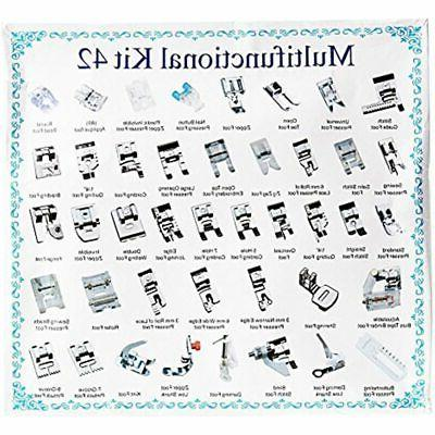 42 PCS Professional Feet Foot Domestic Sewing For Brother,