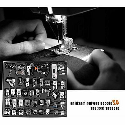 42 PCS Presser Feet Set Foot Sewing Machine For