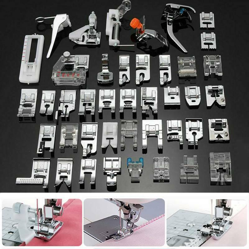 42 PCS Sewing Machine Presser Foot Feet Domestic Tool Kit Se