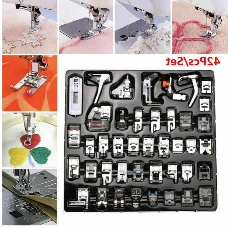 42pcs Domestic Sewing Machine Presser Foot Feet Set for Brot