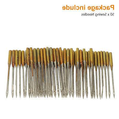 50/100pcs Home Needles Size #9-18 Brother Singer Janome Sewing Machine