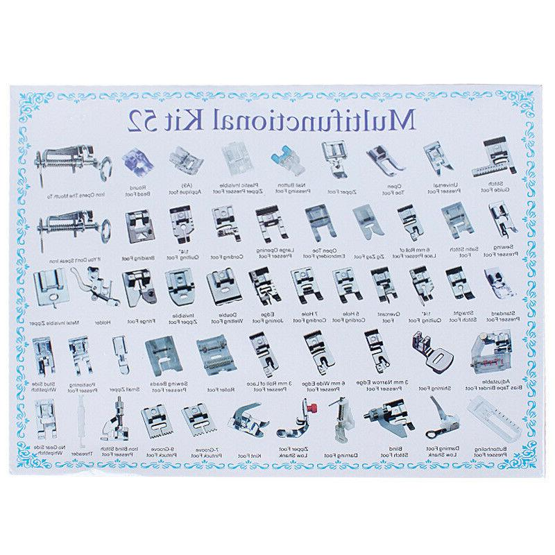 52pc Sewing Foot Presser Tool For