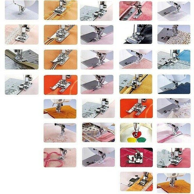52pcs/set Presser Foot Feet For Brother Singer Sewing Machine
