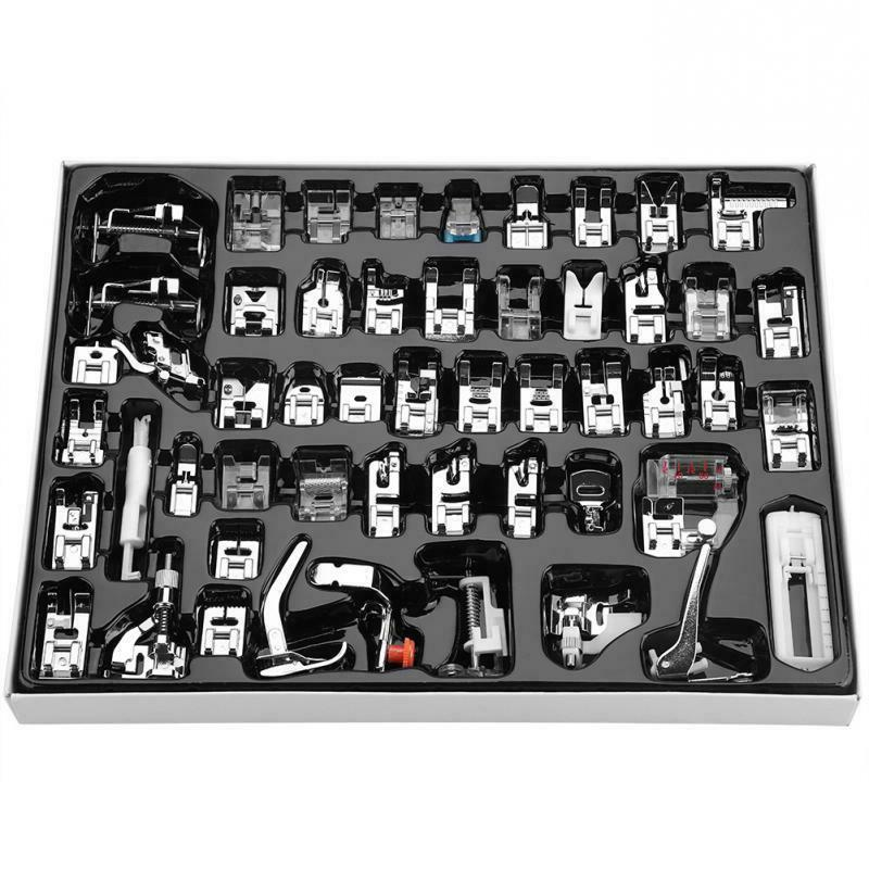 52pcs Domestic Sewing Machine Presser Foot Feet Set for Brot