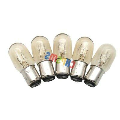 5PCS Light Bulbs for Singer Home Sewing Machine 1.5W 220 Vol