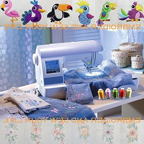 New Brothread Brother Colors Embroidery Thread Kit 500M Janome Singer Pfaff Husqvarna Bernina Sewing Machines