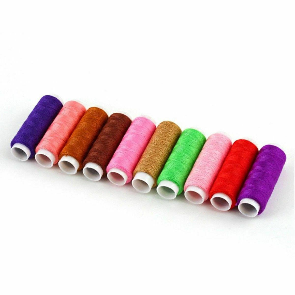 64 Line thread Spool Set Bobbin Cotton Reel Needle Tape