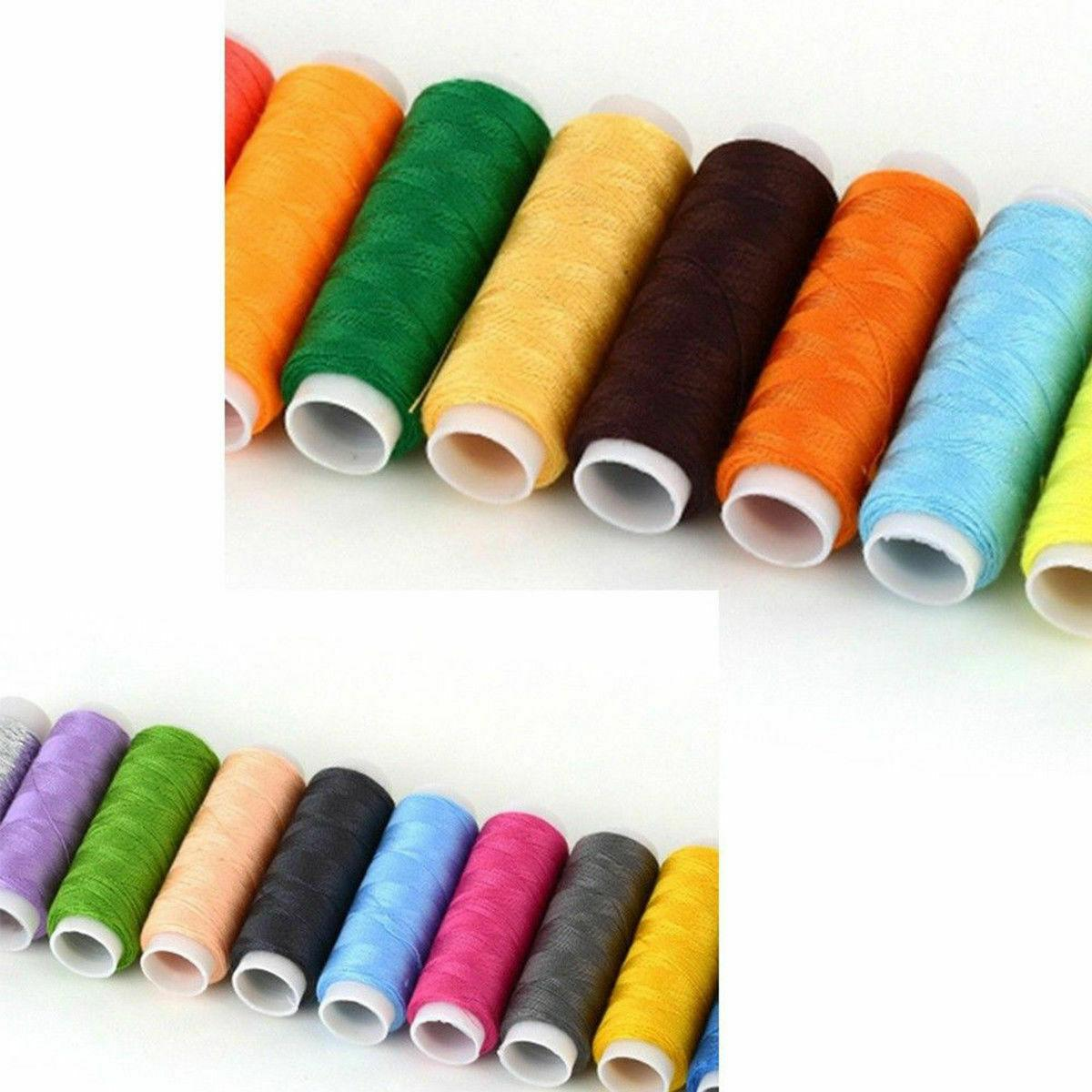 64 Rolls Sewing Line Bobbin Cotton Tape Kit