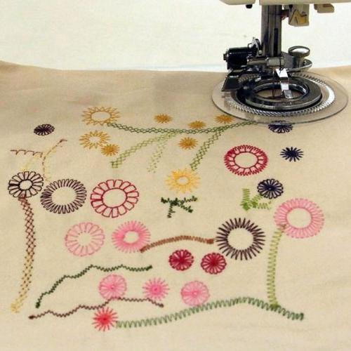 Embroidex Flower Circle Sewing Foot Low Sewing Brother, Babylock, Singer, Home, Janome, Bernette