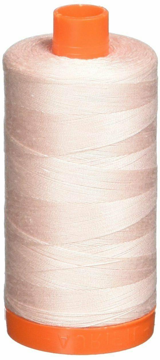 Aurifil A1050-2410 Solid 50W 1422 yd Pale Pink Mako Cotton T