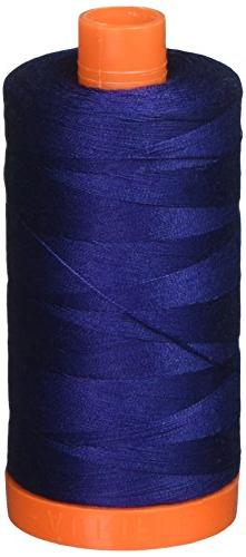Aurifil A1050-2784 Solid 50wt 1422yds Dark Navy Mako Cotton