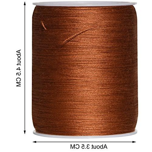 Colored Bird Total 1800Yds 50wt Mixed Cotton Thread Serger Thread Set Spools,150Yds Each -for Single Needle,Machine