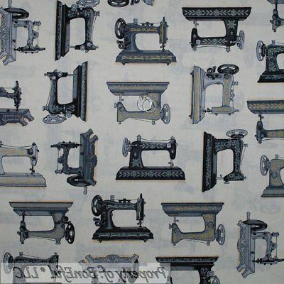 Quilt Antique Old World Sewing Machine Black