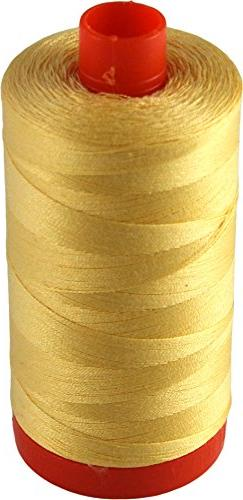 Aurifil Medium Butter MK50 2130 Cotton Mako 50wt Thread Larg