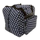 Hemline Dotty Navy Polka Dot Serger - or - Overlock Tote Bag